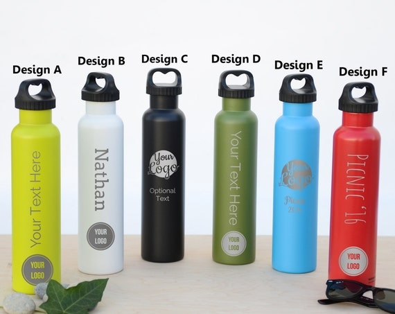25oz Personalized Bottle | Custom Insulated Bottle BPA Free | Company Logo Party Gift | Employee Appreciation | Wedding Party Gifts WB0001