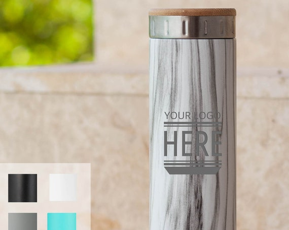 Custom Design Stainless Steel Water Bottle 20oz | Elemental Iconic Insulated Bottes | Best Gift for Birthdays and Holidays | Custom Logo