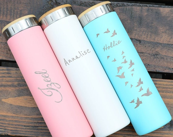 Custom Name 20oz Stainless Steel Water Bottle | Elemental Iconic Insulated Bottes | Best Gift for Birthdays and Holidays | Custom Logo