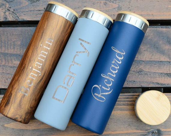 Custom Name Stainless Steel Water Bottle 20oz | Elemental Iconic Insulated Bottes | Best Gift for Birthdays and Holidays | Custom Logo