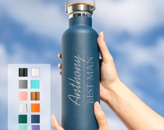 Personalized Groomsman Gift Insulated Water Bottle Groomsmen Design 25oz   Personalized Gifts   Wedding Party Gifts   Bridal Party Gift