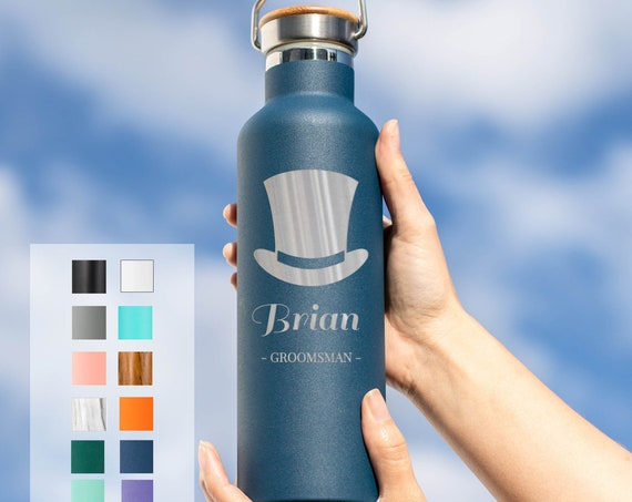 Personalized Groomsman Gift Insulated Water Bottle Groomsmen Design 25oz | Personalized Gifts | Wedding Party Gifts | Bridal Party Gift