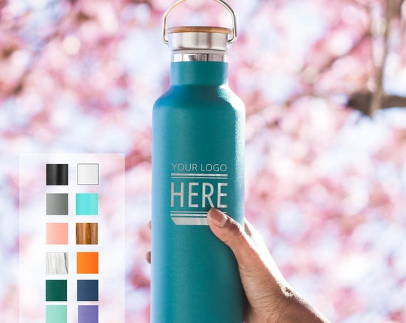 Custom Engraved 25oz Stainless Steel Bottle | Elemental Insulated Bottles | Team Gifts | Staff Gifts | High End Promo Gifts