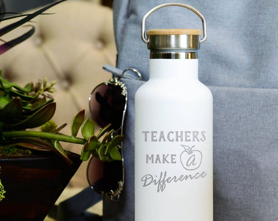 Teacher Gift - Insulated Stainless Steel Water Bottle 25oz | Teacher School Gifts | Back to School Present | Teacher Appreciation