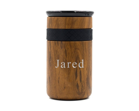 Personalized Insulated Stainless Steel Coffee Tumbler 12oz & 16oz with CERAMIC Lid - 6hrs hot   18 hrs cold   Best Gift for Coffee Lovers