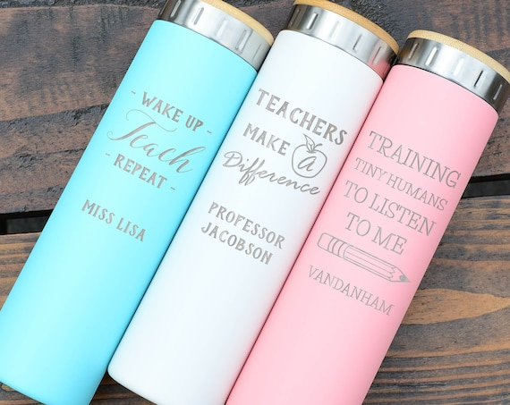 Designs For Teach & Nurses   Best Gift Stainless Steel Water Bottle 20oz   Elemental Iconic Insulated Bottes   Best Gift for Professionals