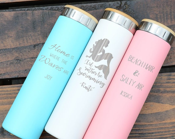 Custom Water Bottle Gift, Stainless Steel Water Bottle 20oz | Elemental Iconic Insulated Bottes | Best Gift for Birthdays and Holidays