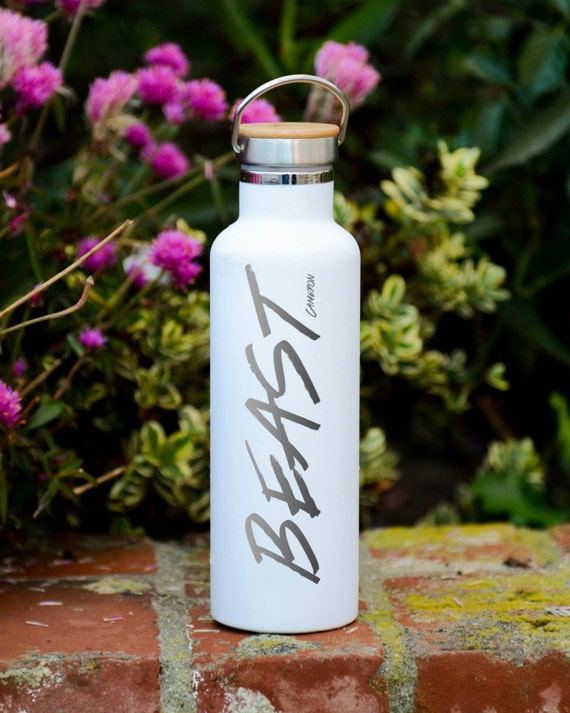 Personalized Insulated Stainless Steel 25oz (750ml)  Water Bottle | Personalized Tumbler with Name | Groomsmen Bottles | Beast Vacuum Flasks