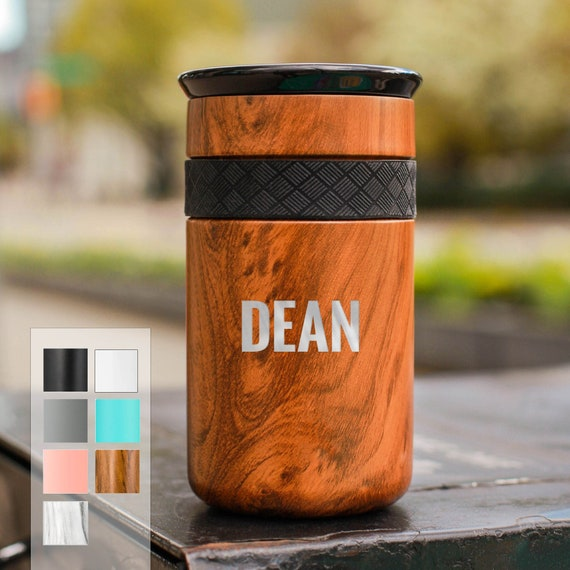 Customized Coffee Tumbler Stainless Steel 12oz with CERAMIC Lid - 6hrs hot | 18 hrs cold | Best Gift for Coffee Lovers | Personalized Gift