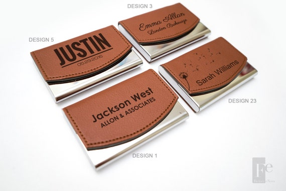 Personalized Leather Business Card Holder | Custom Business Card Case | Groomsman Gifts | Corporate Gifts | Personalized Christmas Gift
