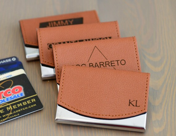 Personalized Leather Business Card Holder | Professional Gifts | Groomsmen Gifts | Newly Grad Gifts | Corporate Gifts | Christmas Gifts
