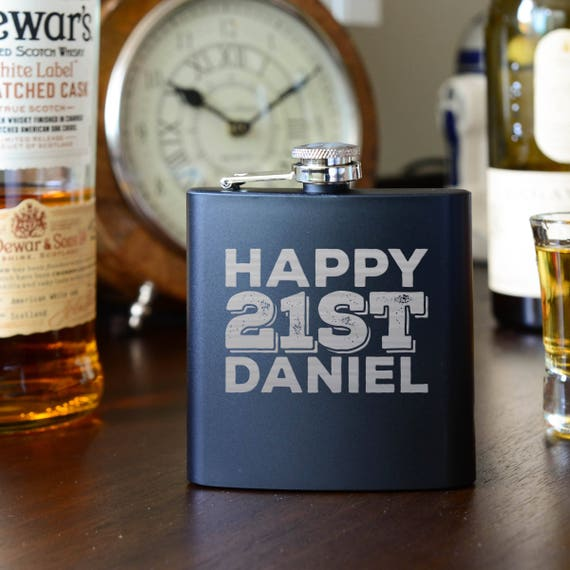 Personalized birthday flask | 21st birthday flask | vegas flask | graduation gift | outdoors gift | funny flask | first flask