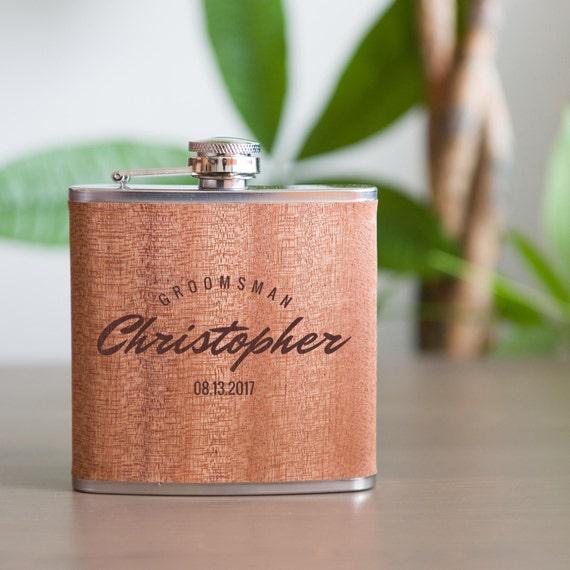 Personalized flask | groomsmen gift | bridesmaid flask | wedding party gift | best man gift | groom gift | custom flask | #FSK011