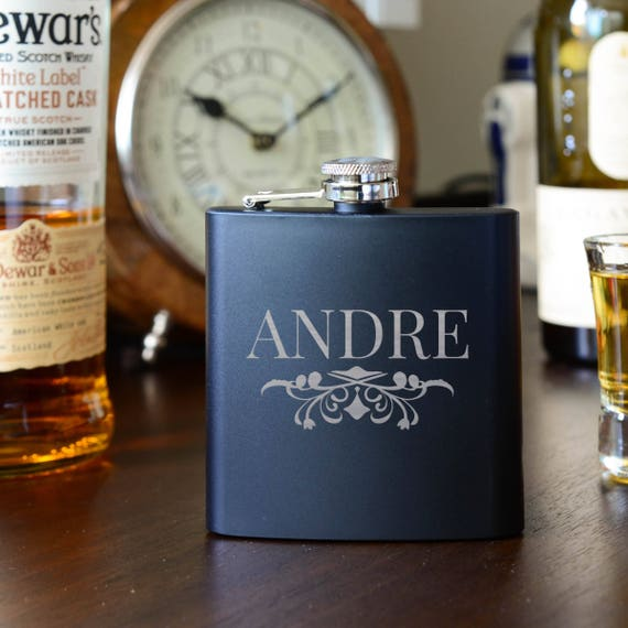 Personalized flask | groomsmen flask | best man flask | bold flask | name on flask | wedding party gift | best man flask |