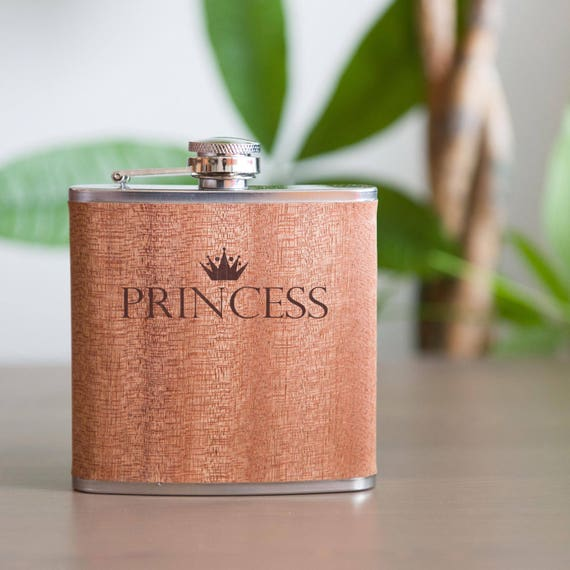 Laser etched flask | princess flask | cute flask | black birthday flask | birthday gift | bridesmaid gift | princess gift | #FB0042