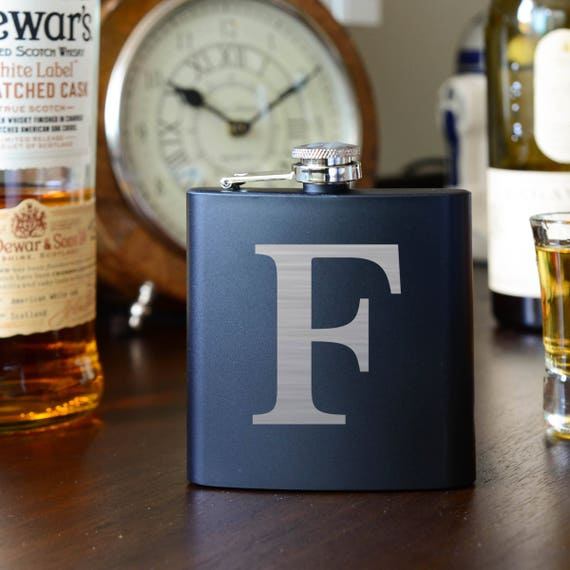 Initial Flask | groomsmen flask | best man flask | engagement gift | personalized flask | letter flask | bridesmaid flask | #FSK008
