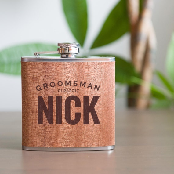 Personalized flask | groomsmen flask | best man flask | bold flask | name on flask | wedding party gift | bridesmaid flask | #FSK026