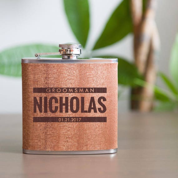 Personalized flask | groomsmen flask | best man flask | bold flask | name on flask | wedding party gift | bridesmaid flask | #FSK013