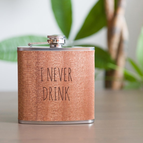 Laser etched flask | funny flask | pink birthday flask | ironic flask | bachelorette gift | funny drinking | don't drink flask | #FSK003