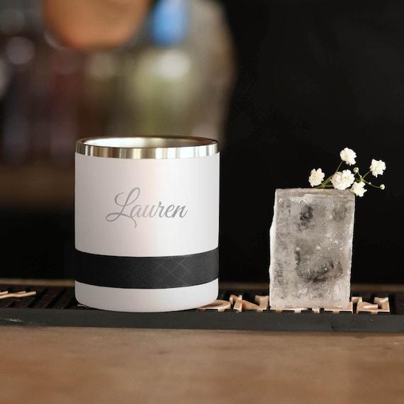 Custom Engraved Tumbler | Rocks Tumbler 10oz, Lowball Tumbler | Best Gift For Birthdays | Personalized Gift For Men, Laser Engraved