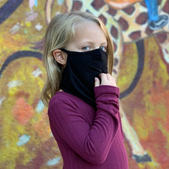 Kids Neck Gaiter - Wicking Cooling Face Covering - Butter Soft Fabric with 5% Spandex for Stretch and Perfect Fit, Youth Neck Scarf