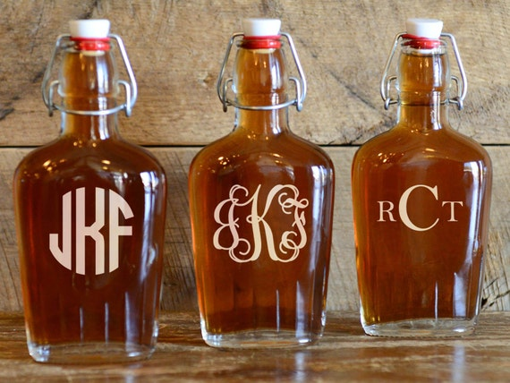 Personalized Monogram Flask | Initial Flask | Three Letters Monogram Flask | Wedding Party Gift | Birthday Gift