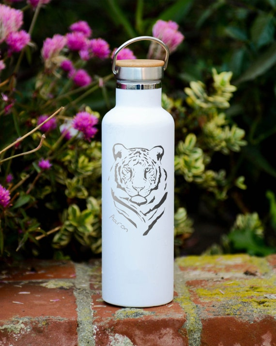 Personalized Stainless Steel Water Bottle Name Design 25oz | Personalized Gifts | Custom Birthday Gifts | Elemental Bottles | Wedding Party