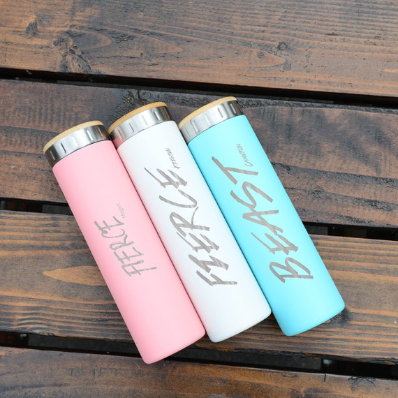 Sports Personalized Stainless Steel Water Bottle 20oz   Elemental Iconic Insulated Bottes   Best Gift for Active, Fitness Lovers Birthday