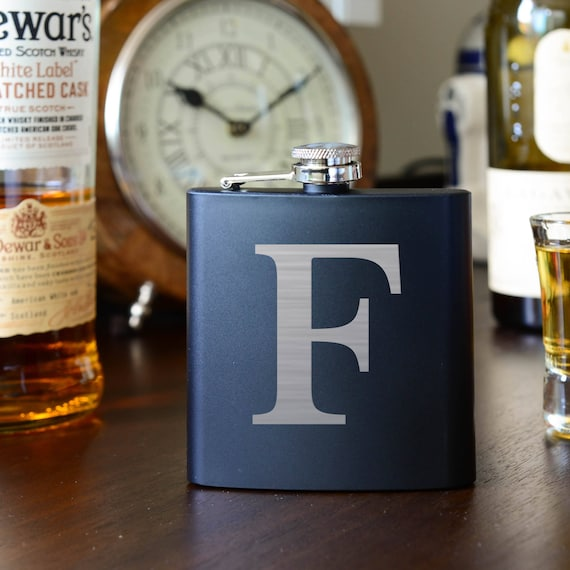Personalized Initial Wooden Flask | Groomsman Wood Flask | Best Man gift | Engagement Gift | Letter Flask | Minimalistic flask FW0100