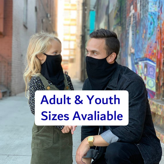 Comfortable Neck Gaiter, Wicking Cooling Face Covering, Soft Fabric with 5% Spandex for Stretch and Perfect Fit, For Men, Women, & Children