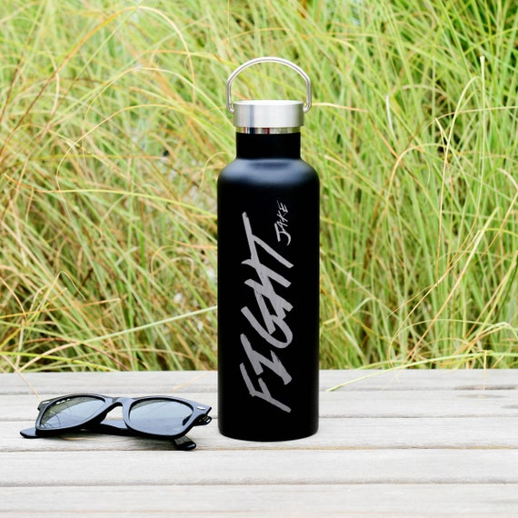Personalized Stainless Steel Water Bottle Name Design 25oz | Personalized Gifts | Custom Birthday Gifts | Elemental Bottles | Fighter Gift