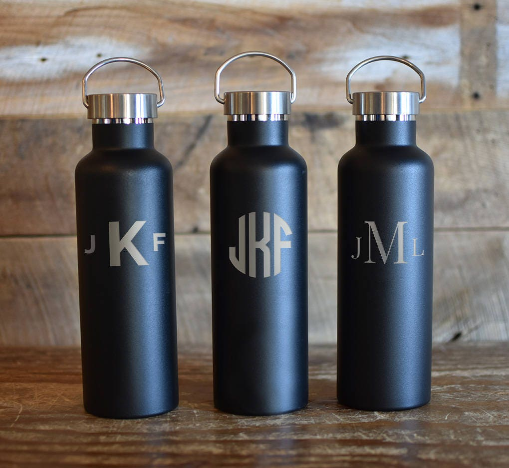 personalized insulated water bottle groomsmen design 25oz