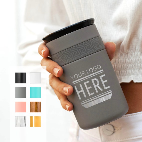 20-Pack Stainless Steel Coffee Tumbler Personalized 12oz with CERAMIC Lid - 6hrs hot   18 hrs cold   Best Gift for Coffee Lovers