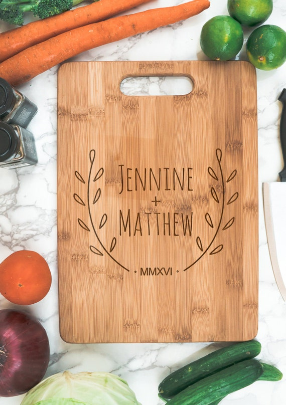 Couple's Personalized  Bamboo Cutting Board | Couple Name housewarming gift | personalized kitchen | cook gift | personalized newlywed gift
