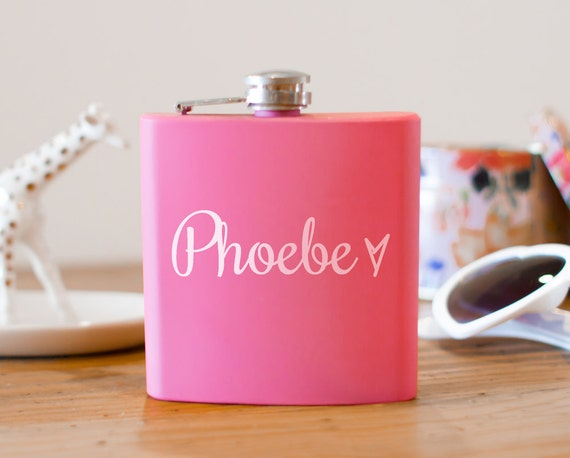 Personalized flask | bridal shower | engagement gift | name flask | wedding party gift | maid honor flask | bridesmaid flask | #FP0030
