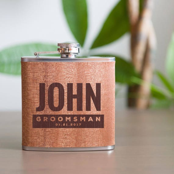 Personalized flask   groomsmen flask   best man flask   bold flask   bachelor party flask   wedding party gift   bridesmaid flask   #FSK012