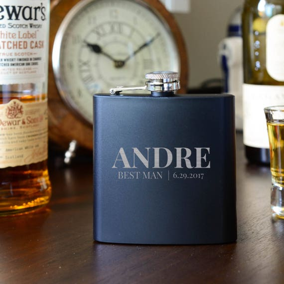 Personalized flask | groomsmen flask | best man flask | bridesmaid flask | name on flask | wedding party gift | bridesmaid flask | #FSK066