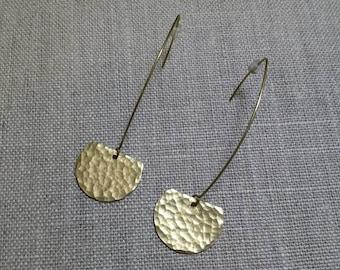 Aurelia Brass Earrings / Dangle Earrings / Boho Chic / Minimalist / Geometric
