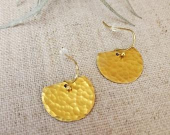 Auri Brass Earrings / Dangle Earrings / Boho Chic / Minimalist / Geometric