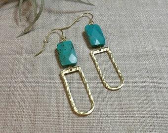 Carolina Brass Earrings / Boho Chic / Minimalist / Geometric