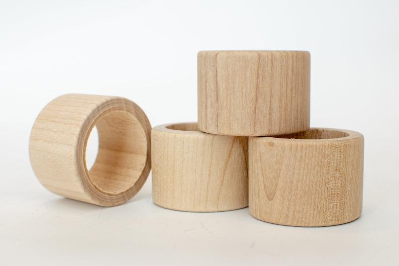Unfinished Wood Napkin Ring  Napkin Rings Wood Napkin Rings image 0