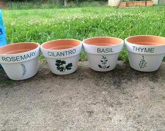 Herb Garden Vinyl Decals