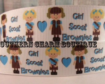 "3 yard 7/8"" girl scout brownies grosgrain ribbon"