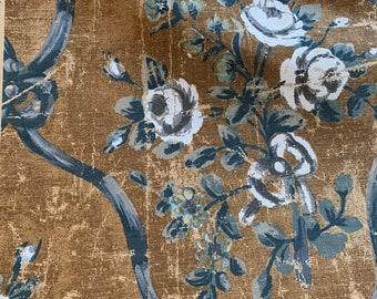 """Pierre Frey Petit Parc 'Gris"""" Upholstery Fabric Remnants, Cotton Linen  #3954"""