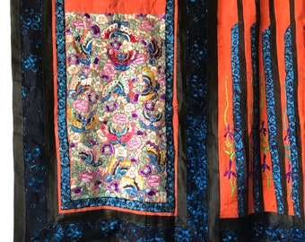 Gorgeous 19th Century Qing Dynasty Embroidered Silk ~ As Is Condition#3581