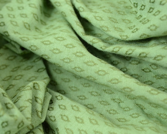 1940s 50s Vintage Upholstery Fabric Large Remnant Piece Green Etsy