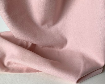 """1960s Pale Pink Wool Flannel Fabric By the Yard x 60"""" wide #3968"""