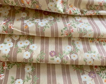 """Clarence House Floral Stripe Chintz Drapery, Pillow & Upholstery Fabric 55"""" wide, Out of Print #3955"""
