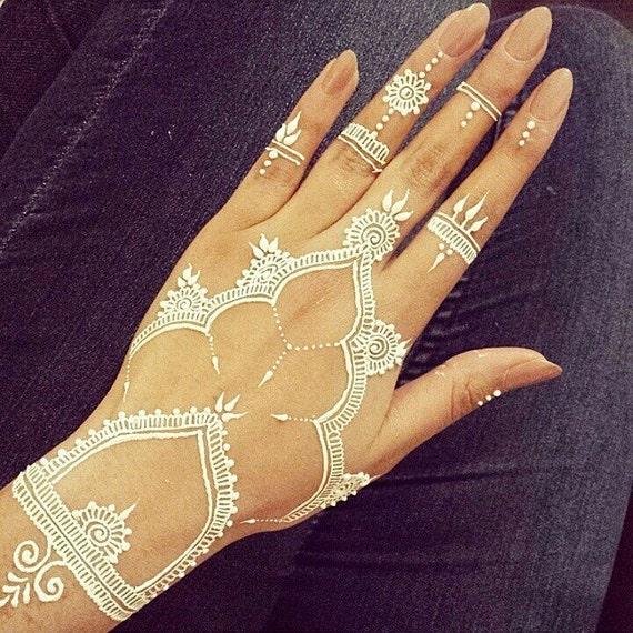 White Henna Cones Henna Cone Bridal White Henna White Tattoo Etsy