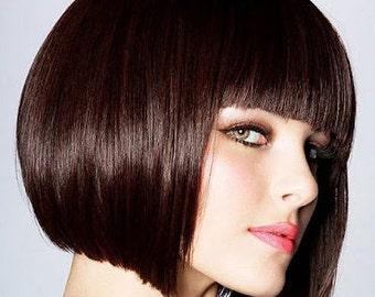 Organic Henna Hair Color DARK BROWN Certified Vegan Henna Hair Dye Kit 100 % Natural Chemical Free Hair Coloring